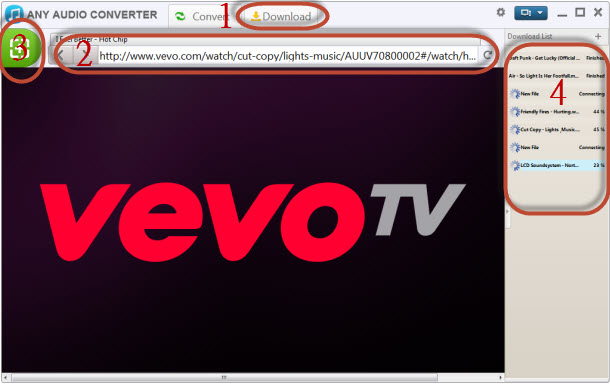 Download Vevo to MP3 Converter