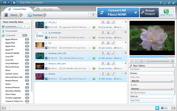 interface of free video converter