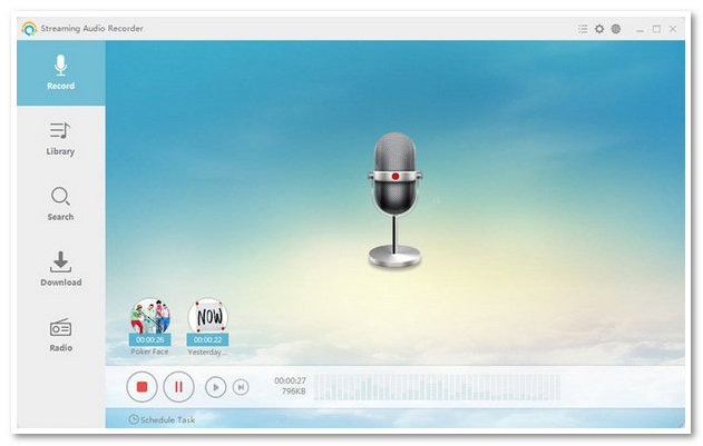 Apowersoft Streaming Audio Recorder main interface