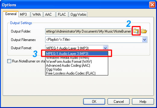 Options AA to MP3
