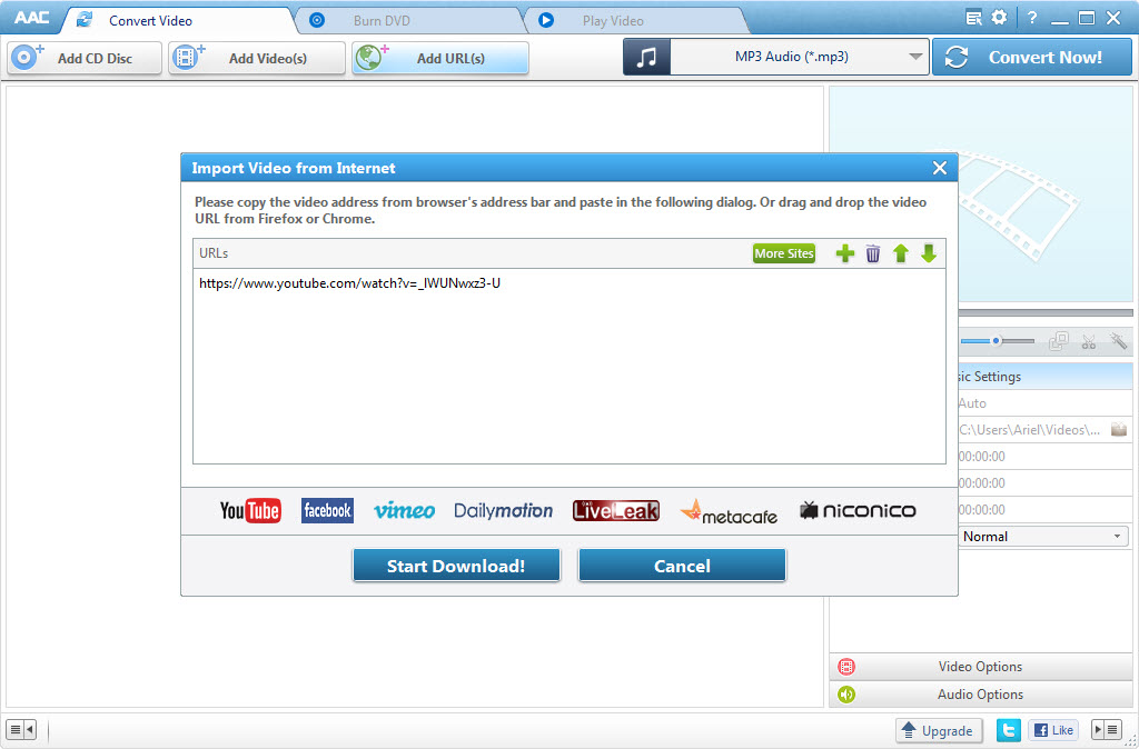 Online Video Downloader, Online Video to MP3 Converter