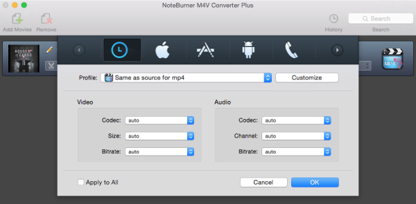M4V to MP4, MOV, AVI, 3GP, FLV for ipod, ipad, psp, zune, xbox