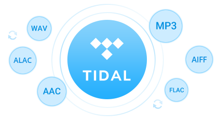tidal music to MP3/AAC/WAV/FLAC
